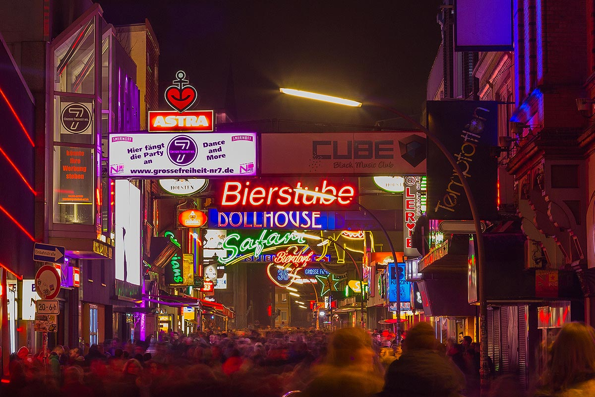 Reeperbahn bei Nacht mit Führungen Hamburg