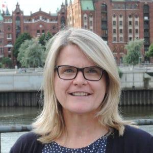 Foto von Stadtführerin Renate Langsdorf bei Führungen Hamburg