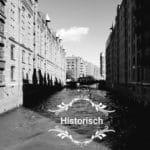 Historisches Bild Kanal in Hamburg schwarz weiß