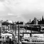 Altes Bild vom Hamburger Hafen